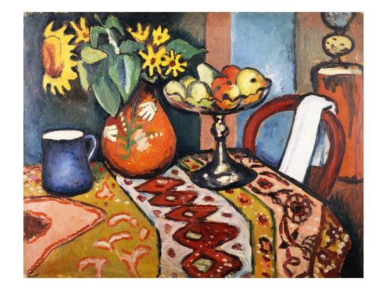 auguste-macke-still-life-with-sunflowers-ii