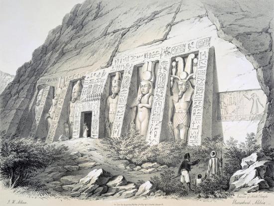 augustus-butler-exterior-of-the-north-temple-ebsamboul-nubia-c1850