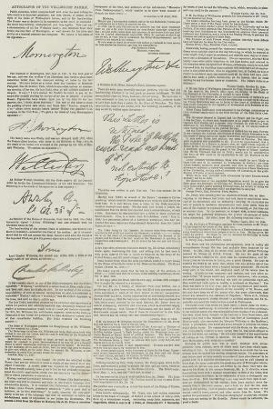 autographs-of-the-wellington-family