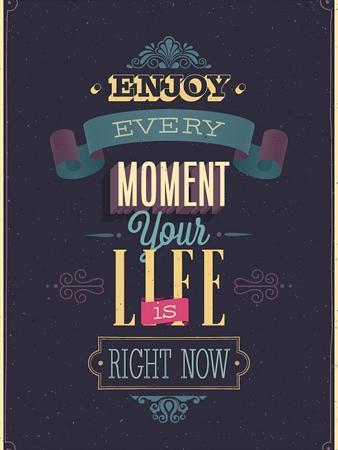 avean-vintage-enjoy-every-moment-poster