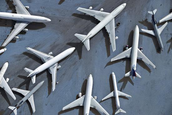 azp-worldwide-an-aerial-view-of-multiple-airplanes-on-a-runway