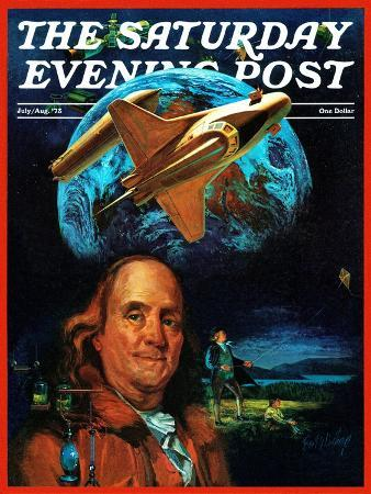 b-winthrop-franklin-and-the-space-shuttle-saturday-evening-post-cover-july-1-1973