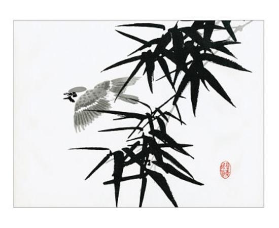 bamboo-and-bird