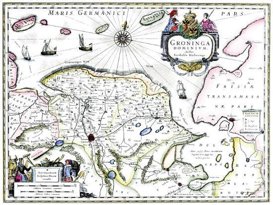 barthold-wicheringe-map-of-groningen-netherlands-17th-century
