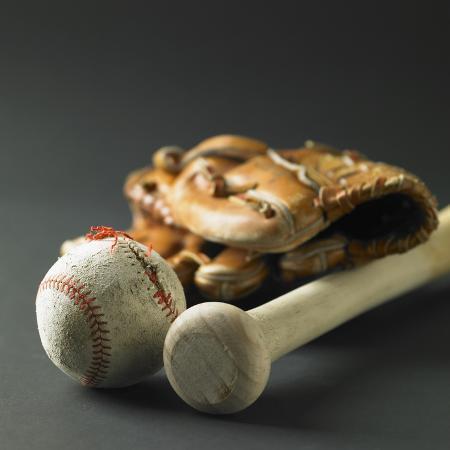 baseball-glove-a-bat-and-a-ball