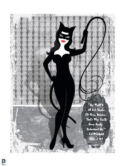 Batman Catwoman Standing With Whip In Hand Cat Wallpaper Behind Her