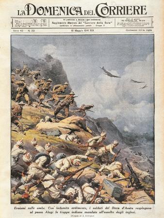 battle-of-amba-alagi-front-page-of-la-domenica-del-corriere-18th-may-1941