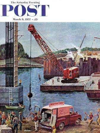 ben-kimberly-prins-bridge-construction-saturday-evening-post-cover-march-9-1957