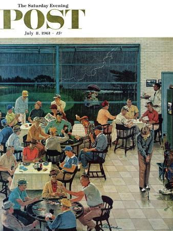 ben-kimberly-prins-clubhouse-on-rainy-day-saturday-evening-post-cover-july-8-1961
