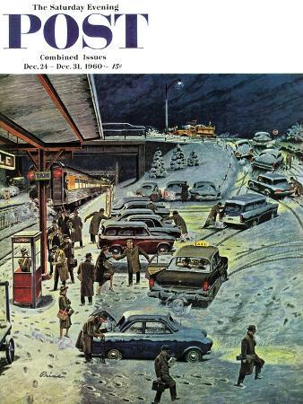 ben-kimberly-prins-commuter-station-snowed-in-saturday-evening-post-cover-december-24-1960