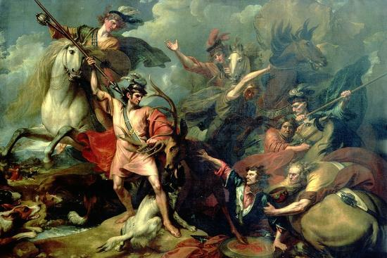 benjamin-west-alexander-iii-of-scotland-rescued-from-the-fury-of-a-stag-by-the-intrepidity-of-colin-fitzgerald