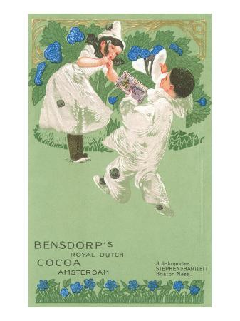 bensdorp-s-cocoa-advertisement-with-young-harlequins