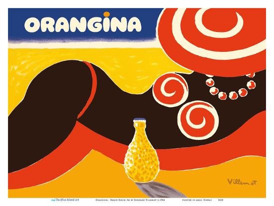 bernard-villemot-orangina-sparkling-soda-beach-bikini-ad