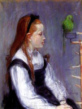 berthe-morisot-young-girl-with-a-parrot-c-1873