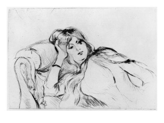 berthe-morisot-young-woman-at-rest-1889-drypoint
