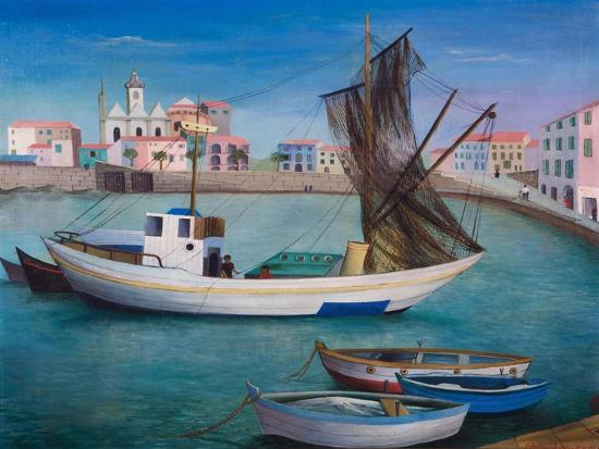 bettina-shaw-lawrence-fishing-boats-in-porto-san-stefano-1976
