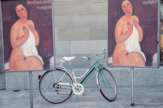 bicycle-standing-between-nude-painting-of-ladies-zurich-switzerland