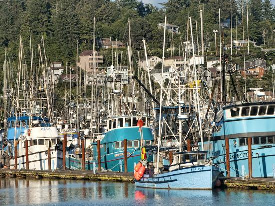 bill-bachmann-old-fishing-boats-in-harbor-at-sunset-newport-oregon-usa