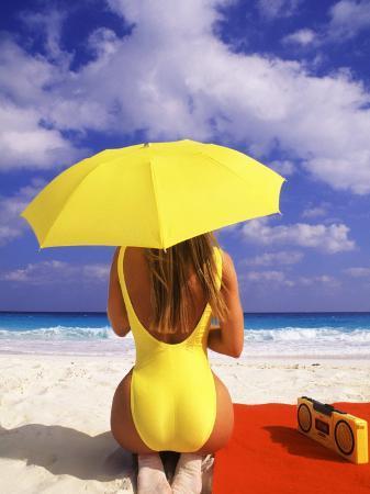 bill-bachmann-woman-in-yellow-swimsuit-with-umbrella