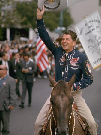 bill-ray-california-republican-gubernatorial-candidate-ronald-reagan-in-cowboy-attire-riding-horse-outside