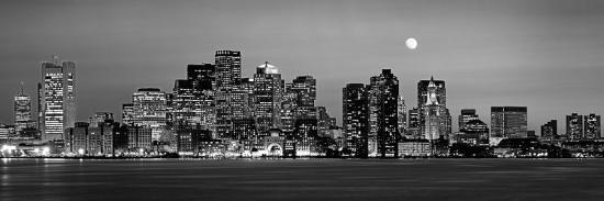 black-and-white-skyline-at-night-boston-massachusetts-usa