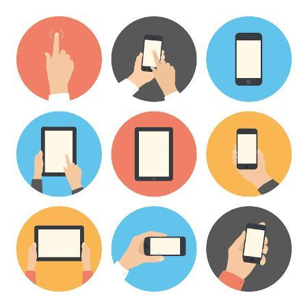 bloomua-mobile-communication-flat-icons-set