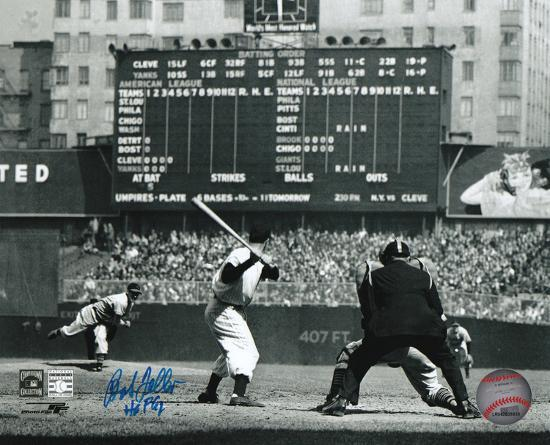 bob-feller-cleveland-indians-with-hof-62-inscription-autographed-photo-hand-signed-collectable