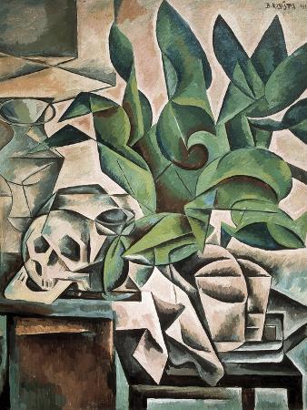 bohumil-kubista-still-life-with-skull