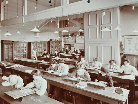 book-illustration-class-camberwell-school-of-arts-and-crafts-southwark-london-1907