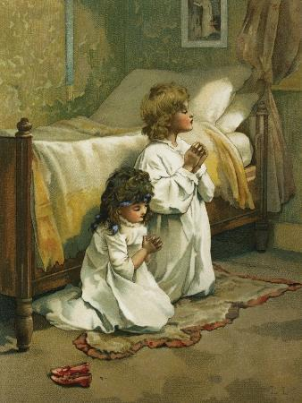 book-illustration-of-children-praying-by-lizzie-lawson