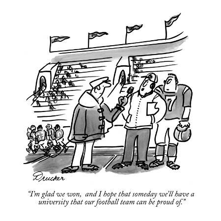 Image result for football cartoon new yorker
