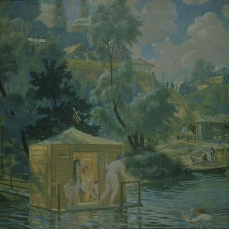 boris-michaylovich-kustodiev-bathers-1921
