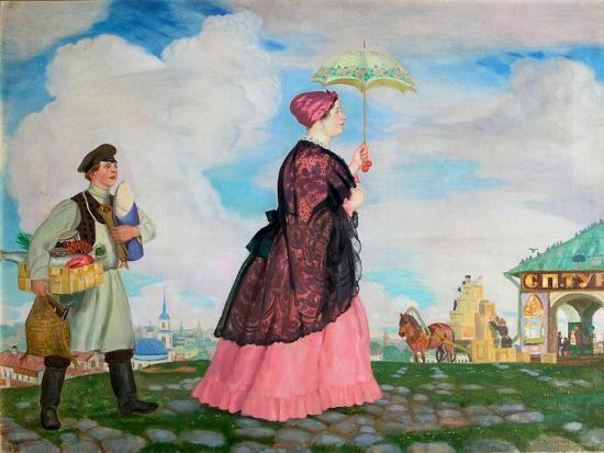 boris-michaylovich-kustodiev-merchant-s-woman-with-purchases-1920