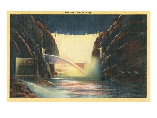 boulder-dam-at-night-nevada