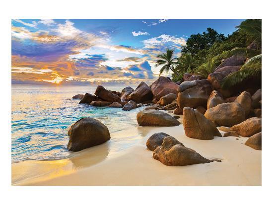 boulders-tropical-beach-sunset