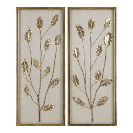 branching-out-gold-leaf-panel-pair