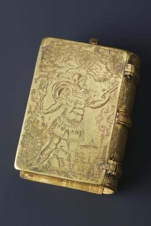breviary-shaped-brass-clock-door-closed-first-half-16th-century