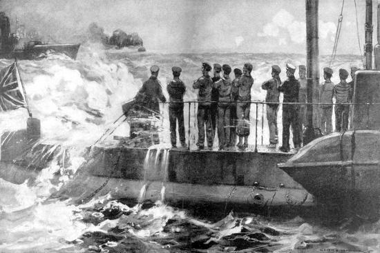 british-submarine-e-13-in-the-baltic-to-assist-the-russians-world-war-i-1915