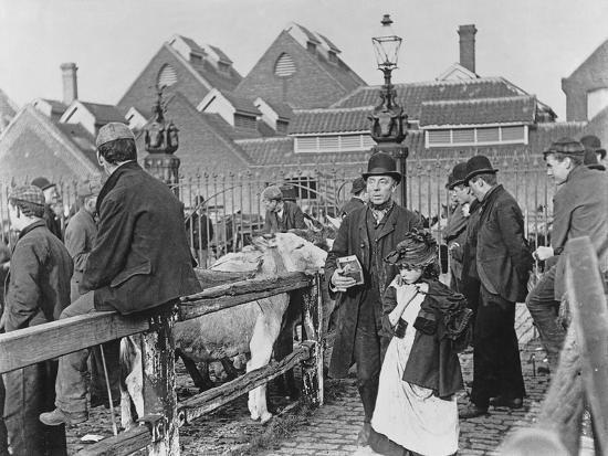british-village-cattle-market-victorian-19th-century