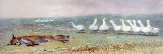 briton-riviere-a-game-of-fox-and-geese-1868