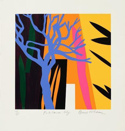 bruce-mclean-blue-tree