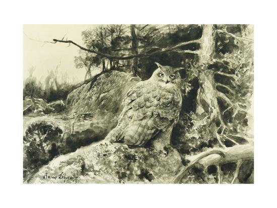 bruno-liljefors-berguv-eagle-owl-bubo-bubo