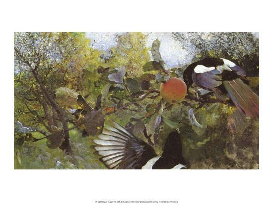 bruno-liljefors-magpies-in-apple-tree-1888