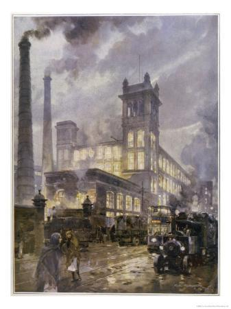 c-e-turner-traffic-passing-the-smoking-chimneys-of-horrockses-crewdson-and-co