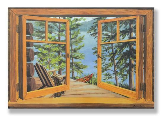 cabin-lake-view-window