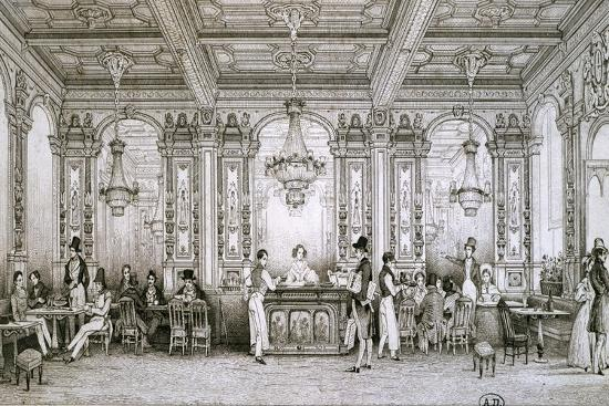 cafe-in-paris-1830-france