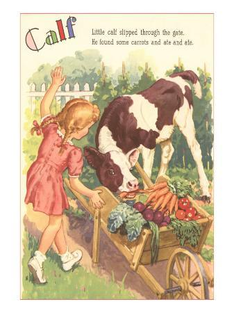 calf-little-girl-with-vegetable-cart