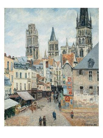camille-pissarro-grocer-street-in-rouen-early-morning