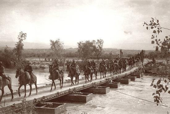 capt-arthur-rhodes-londoner-s-bridge-across-the-the-jordan-river-with-mounted-anzac-troops-crossing-c-1917-18