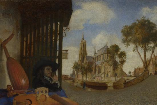 carel-fabritius-a-view-of-delft-with-a-musical-instrument-seller-s-stall-1652